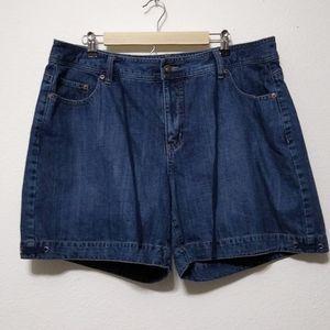 Venezia denim shorts with drawstring waist